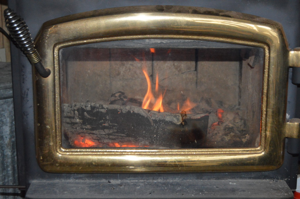 Happy fire in our wood stove